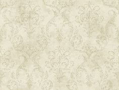 Delia Damask Wallpaper in Ivory design by York Wallcoverings