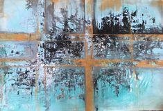 "Acryl painting ""blue gold feelings"" 100x150 cm Art Original, Art Oil, Blue Gold, My Arts, Paintings, Feelings, Pictures, Modern Art Paintings, Idea Paint"