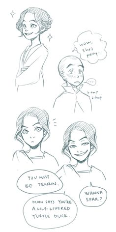 tenzin and lin!! ♥ (Why didn't these two get married?! It would have been so cute!!!)