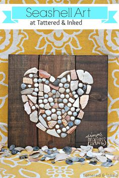 Tattered and Inked: Summer Seashell Art + A $200 Home Depot Giveaway!!!