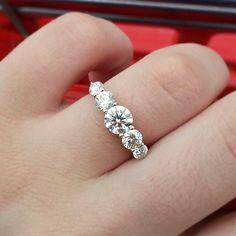 James Allen graduated 5 stone engagement ring.