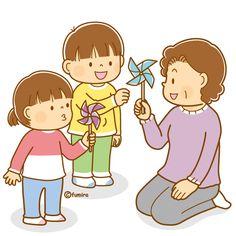 かざぐるまであそぶこどもとお年寄りのイラスト(ソフト) Play School Activities, Micro Creche, Childhood Games, Cute Clipart, Doodle Drawings, Cartoon Kids, Free Illustrations, Drawing For Kids, Japanese Art