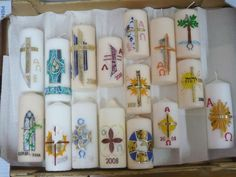 Decoupage, Personalized Candles, Pillar Candles, Fun Nails, Projects To Try, Homemade, Creative, Inspiration, Easter Candle