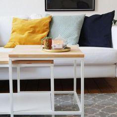 IKEA VITTSJÖ coffee table DIY / IKEA HACK / MAKEOVER - Livingroom, Wood, scandinavian home / Couchtisch selber machen / günstig und schön