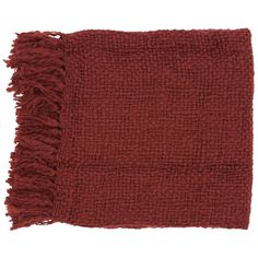 Surya Tobias Burgundy Throw Blanket (£50) ❤ liked on Polyvore featuring home, bed & bath, bedding, blankets, fillers, accessories, scarves, item, random and burgundy blanket