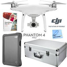 DJI Phantom 4 Pro Quadcopter Drone  Case DJI 2TB Fly Drive Paintshop Pro 9 Bundle ** Click for Special Deals  #CameraDeals