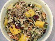 This Oct. 2016 photo shows wild rice dressing in Coronado, Calif. This dish is from a recipe by Melissa d'Arabian. (Melissa d'Arabian via AP) Photo: Melissa D'Arabian, AP / Melissa d'Arabian Turkey Broth, Turkey Sausage, Hot Sausage, Butternut Squash Cubes, Wild Rice Recipes, Salad Recipes, Healthy Recipes, Sandwich Recipes, Free Recipes