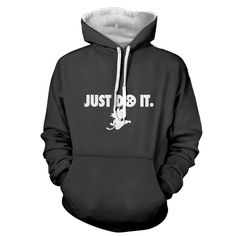 Just Do It Slogan Dragon Ball Kid Goku Dope Black Hoodie  #JustDoItSlogan #DragonBall #KidGoku #DopeBlackHoodie