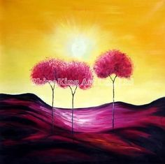 handmade canvans abstract painting Beautiful art oil paintings DecorA299 $22.00