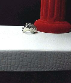 Vintage Sterling Silver 925 - Lucky Horse Head 3.9g - Ring (5.5) #Custom