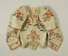 Bodice  Date: ca. 1770 Culture: Spanish Medium: silk Dimensions: [no dimensions available] Credit Line: Gift of Mr. Claggett Wilson, 1946 Accession Number: C.I.46.59.5