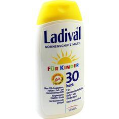 LADIVAL Kinder Sonnenmilch LSF 30:   Packungsinhalt: 200 ml Milch PZN: 03376645 Hersteller: STADA GmbH Preis: 13,52 EUR inkl. 19 % MwSt.…