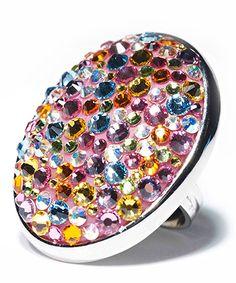 Funfetti Confetti Swarovski Crystal Ring