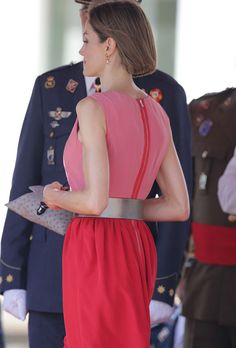 King Felipe VI of Spain and Queen Letizia of Spain attend the delivery of actual employment office at General Air Force Academy on July 14, 2015 in San Javier, Murcia, Spain.