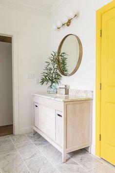 Design by Design Addict Mom. Tile featured: Firenze Carrara Pol. Marble 12x24in. Bathroom Trends, Bathroom Art, Bathrooms, Glass Shower Doors, Shower Faucet, Closet Transformation, Blogger Home, Interior Styling, Interior Design