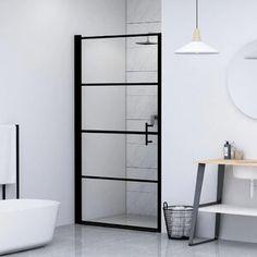 "SUNNY 59"" W x 62"" H Semi-Frameless Shower Door | Wayfair Modern Shower Doors, Frameless Shower Doors, Glass Shower Doors, Glass Door, Wet Room Screens, Bath Screens, Bathtub Doors, Bathtub Shower, Minimalist Showers"