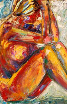 """Abstract Female Nude Painting,Palette Knife Figure """"The Pose by Texas Artist Debra Hurd Oil on Canvas-Purchase a Fine Art Print at Abstract Art Images, Figure Painting, Erotic Art, Figurative Art, Love Art, Female Art, Art Pictures, Art Drawings, Palette Knife"""