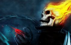 This HD wallpaper is about burning skull illustration, fantasy art, artwork, Ghost Rider, Original wallpaper dimensions is file size is Ghost Rider Wallpaper, Skull Wallpaper, Female Elf, Female Anime, Skull Illustration, Character Illustration, Dark Fantasy, Fantasy Art, Ghost Rider Tattoo