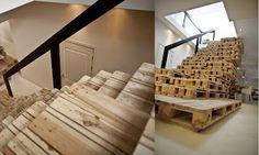 Une autre option intéressante est de construire un escalier avec des palettes en bois. Le concept est super simple, il suffit de mettre les palettes ensemble dans les stades, Alors ils finissent pa…