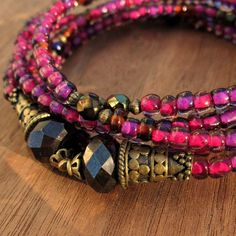 Great color! Memory wire wrap bracelet by CreatedbyRenee. I don't normally like memory wire bracelets but this is nice.