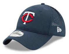 New Era MLB Mens PERF PIVOT 2 Minnesota Twins Baseball Hat Cap Blue/Red 80470424