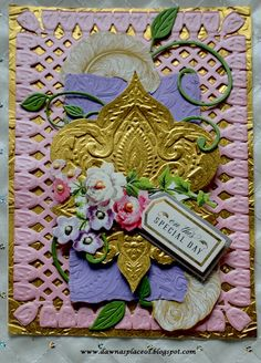 We were challenged to create a Bohemian card on the Friends of Anna Griffin FB site. I created these three cards using the Tassel and Fringe die, Bohemian embossing folders and Feather's papers. Anna Griffin, Special Day, I Card, Card Stock, Appreciation, Challenges, Bohemian, Scrapbook, Projects