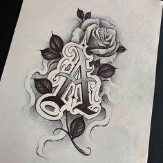 Tattoo Lettering Design, Chicano Lettering, Tattoo Design Drawings, Graffiti Lettering, Tattoo Sleeve Designs, Calligraphy Tattoo, Chicano Tattoos Sleeve, Chicano Style Tattoo, Female Lion Tattoo