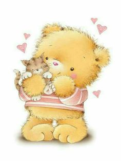 Tatty Teddy, Scrapbook Images, Teddy Bear Pictures, Cute Animal Illustration, Kids Room Paint, Cute Coloring Pages, Bear Cartoon, Love Bear, Cute Teddy Bears