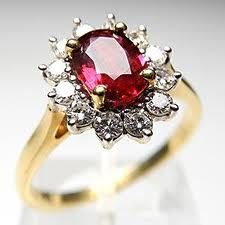 A vintage red ruby engagement ring. My Absolute Dream Ring!