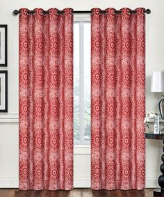 Loving this Red Rebecca Window Panel - Set of Two on #zulily! #zulilyfinds