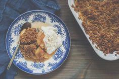 Litt sunnere smuldrepai med epler. Bruk grovt mel og sukkererstatning hvis du vil ha en sunnere smuldrepai.  Apple crumble pie. Crumble Pie, My Recipes, Healthy Recipes, Cauliflower, Vegetables, Simple, Photos, Food, Health Recipes