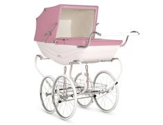 Buy the Pink Balmoral Coach Built Traditional Pram from Silver Cross
