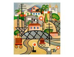 Tarsila do Amaral EFCB, 1924, oil on canvas