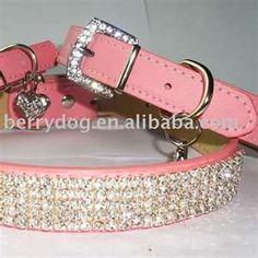 Blinged Dog collar must get!