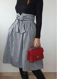 Short Femme Vichy Carreaux Tablier Tabard Cuisine Vêtements en six tailles et deux couleurs