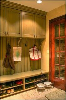 Could do this in the entry instead of a closet... keeps hazardous tools and hardware out of the reach of wee ones.