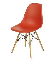 Orange Eames DSW Chair