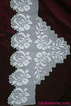 Irish Crochet Tutorial, Hand Applique, Filet Crochet, Baby Knitting Patterns, Cross Stitch Designs, Projects To Try, Lace, Crochet Edgings, Crochet Designs