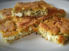 Savory Tart, Mediterranean Recipes, Greek Recipes, Quiche, Food And Drink, Cooking, Breakfast, Tarts, Breads