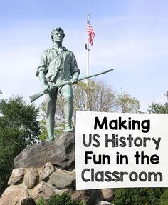 "Making US History Fun in the Classroom - Wise Guys: Kids often find history ""boring"" because it's so ""old""! Here's how to make US History fun in the classroom – with several great resources to get you started! Social Studies Notebook, 5th Grade Social Studies, Social Studies Classroom, Social Studies Activities, History Classroom, Teaching Social Studies, Classroom Activities, School Classroom, Classroom Ideas"