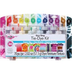 I Love To Create-Tulip One Step Tie Dye Kit: Super Big. The Tulip One-Step Color Tie-Dye Kit includes all of the tie-dye supplies you need to make your tie-dye activities pop with over-the-top Fête Tie Dye, Tulip Tie Dye, Tie Dye Party, Tie Dye Kit, How To Tie Dye, How To Dye Fabric, Tye Dye, Tie Dye Inverse, Reverse Tie Dye