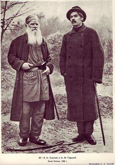 Maksim Gor'kij and Lev Tolstoj, 1900
