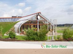 Steel Home partially in ground with glass and solar