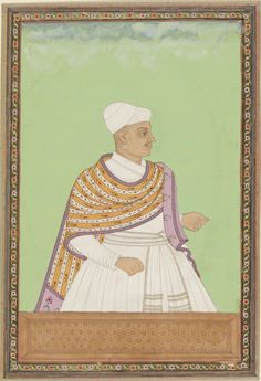 Portrait of Akanna, deputy of Abul Hasan Padshah. Gouache drawing, c. 1686, anonymous, Rijksmuseum