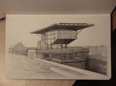 Drawing of Pinacoteca Giovanni e Marella Agnelli Renzo Piano [Building]