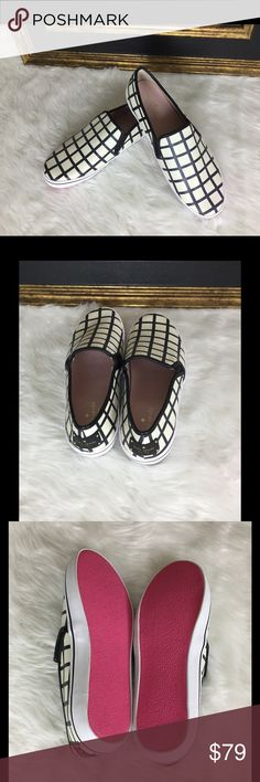 🆕Listing. Kate Spade Serena Slip On Sneakers Sz 9 How awesome are these Kate Spade sneakers.   These have never been worn!  The name is Serena cream/black check print  Nappa. kate spade Shoes Sneakers