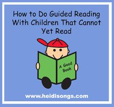 """How to Do Guided Reading with Children that Cannot Yet Read.""  This post has some great procedures and routines for helping emergent readers get started learning beginning reading skills."