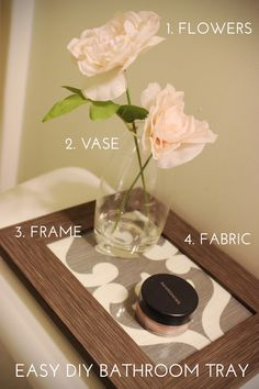 DIY: easy tray for any part in the home.