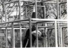 Aprisionamento do Espírito - Pça roosevelt - São Paulo, 1982. (Perfomer Hilda Peixoto. Foto Jorge Bassani).