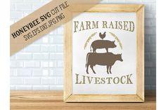 Farm Raised Livestock svg from DesignBundles.net